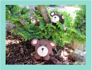 Opskrift på hæklet Bjørn – 3 størrelser