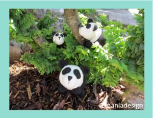 Opskrift på hæklet Panda – 3 størrelser