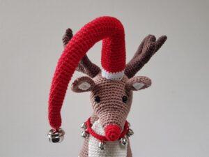 Opskrift på hæklet Rensdyr – Rudolph